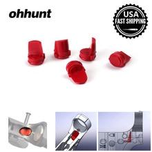 Ohhunt AR 15 M16 223/556 Резина Accu-Клин приемник буфера Охотничьи аксессуары черный красный желтый