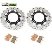BIKINGBOY Front Brake Discs Rotors Disks + Pads for Yamaha FZ8 800 11 12 13 XT1200Z SUPER TENERE 2012 2013 XTZ 1200 XT 1200 Z