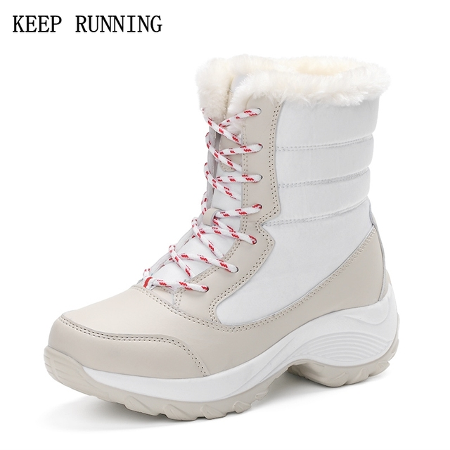 Hot Winter running shoes women Comfortable outdoor sneakers Keep warm and waterproof sports shoes Plus size 35-41