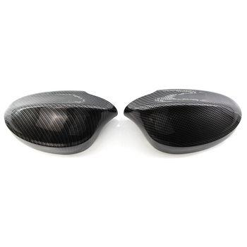 Черное автомобильное боковое зеркало заднего вида из углеродного волокна, крышка для зеркала заднего вида, корпус для Bm w 3 серии E90 318 320I 325I ...