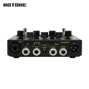 Image 3 - Hotone A Station Acoustic Preamp DI Box Guitar & Microphone Guitar Effects Pedal 9V Adapter Included AD20