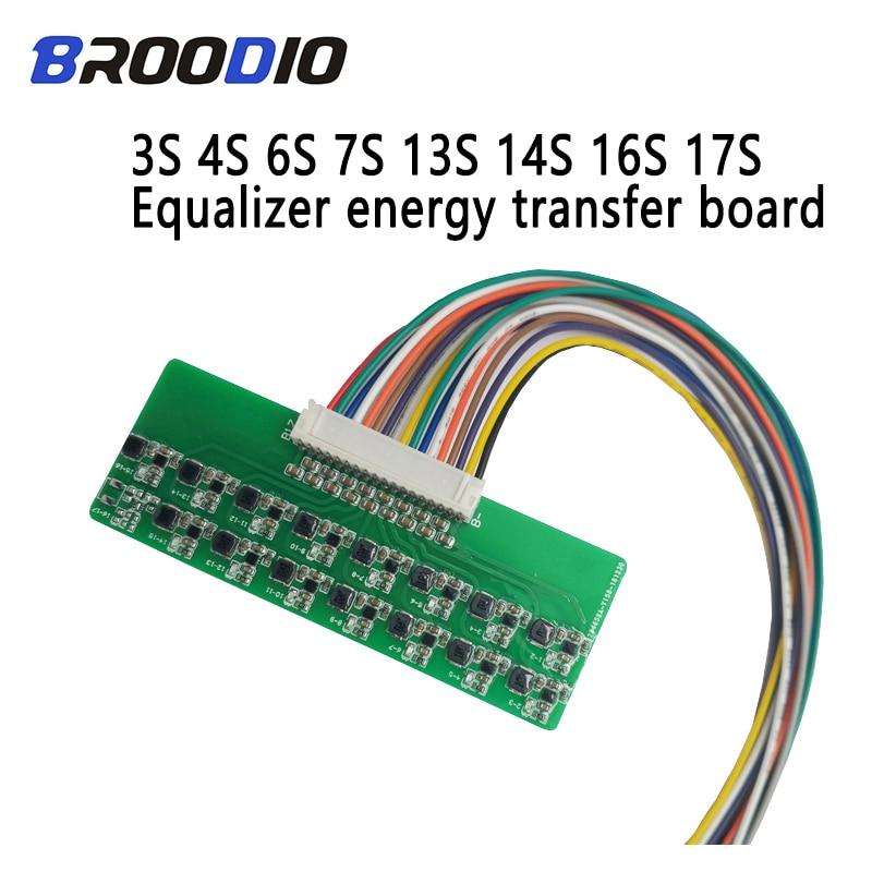 BMS 3S 4S 6S 7S 13S 14S 16S 17S Li-ion Lifepo4 Lithium Battery Active Equalizer Balancer Energy Transfer Board BMS 1.2A Balance