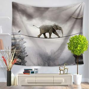 Image 2 - Tapisserie avec imprimé déléphant, Style indien, décoration murale, serviette de plage, Hippie, couverture de pique nique, pour dortoir