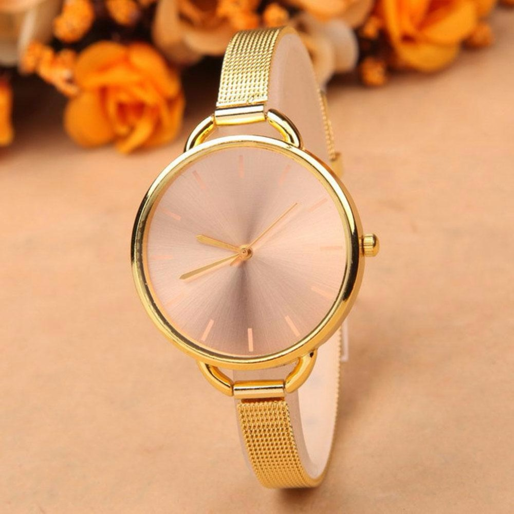 Luxury Watch Women Gold Casual Quartz Watch Stainless Steel Analog Wrist Watch Bracelet Relojes Mujer Montre