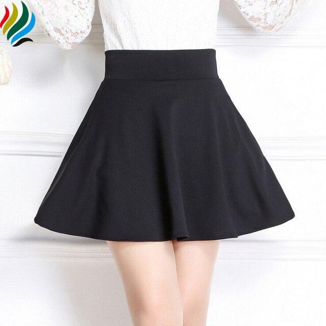 fccf8c14cb7 Summer Style Mini Skirt 2017 Spring Women Saias Middle Waist Pleated Skirts  Korean Short Skater Fashion Plus Size Skirts Mujer