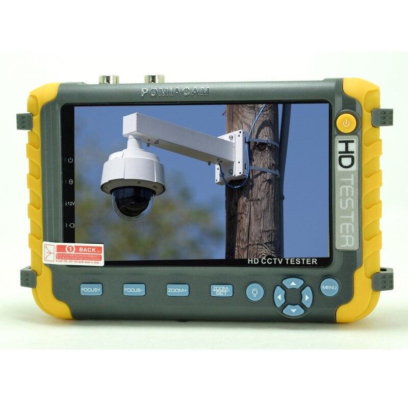 Mise à niveau 4 en 1 5MP AHD TVI 4MP CVI testeur de caméra de sécurité analogique IV8W 5 pouces moniteur de testeur de vidéosurveillance VGA HDMI entrée câble UTP Test