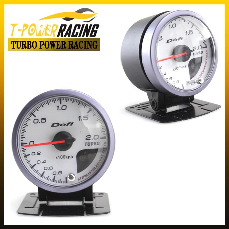 60mm defi white face boost guage/auto meter/auto gauge/tachometer/racing  meter/turbo gauge meter