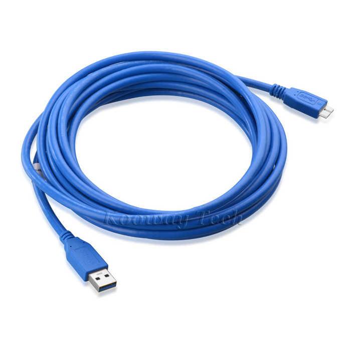 3 قدم USB 3.0 SuperSpeed A ذكر إلى مايكرو B ذكر كابل الجهاز ل توشيبا Canvio مكتب قرص صلب خارجي القرص 1 تيرا بايت/2 تيرا بايت/3TB-Blue