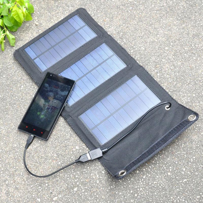 Baterias Solares 5 w 5 v painel Tamanho : Unfolded Size: 39 * 19.5 CM