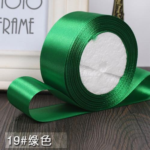 25 ярдов/рулон 6 мм, 10 мм, 15 мм, 20 мм, 25 мм, 40 мм, 50 мм, шелковые атласные ленты для рукоделия, швейная лента ручной работы, материалы для рукоделия, подарочная упаковка - Цвет: Green