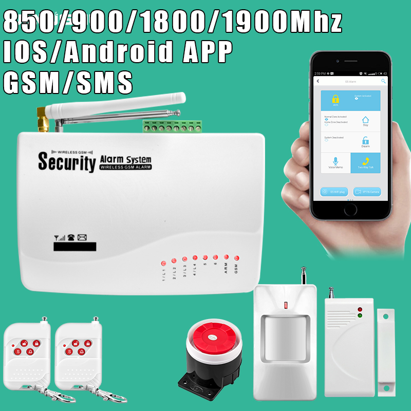 Wireless Phone SIM GSM Home Burglar Security GSM Alarm System English Russian Spansih Voice Prompt Alarm kits g63 wireless wired phone sim gsm home burglar security gsm alarm system english russian spansih voice prompt alarm sensor kit