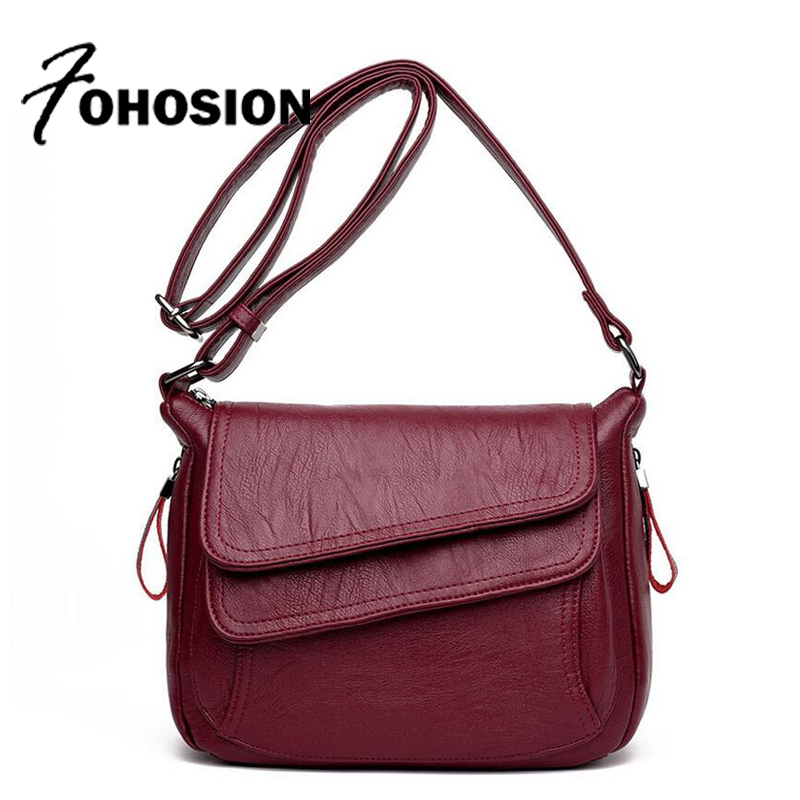 FOHOSION brands Women leather Messenger bags luxury handbags women bags designer Sac a Main Female Shoulder Crossbody bag Bolsos new 2017 women bag fashion messenger bags female designer leather handbags high quality famous brands clutch bolsos sac a main