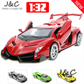Free Shiping 4 Colour 1:32 Veneno Metal Alloy Diecast Toy Car Model Miniature Scale Model Sound and Light Emulation Electric Car
