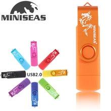 Miniseas dragon Usb Flash Drive OTG 64gb 32gb Smart Phone pendrive 8gb external storage Pen Drive micro usb memory stick