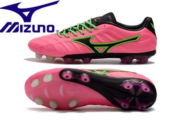 best service d2119 66a5d Mizuno Rebula V1 TF Soccer shoes Sneakers top microfiber leather broken  nail Running Shoes Pink Weightlifting Shoes Size 39-45