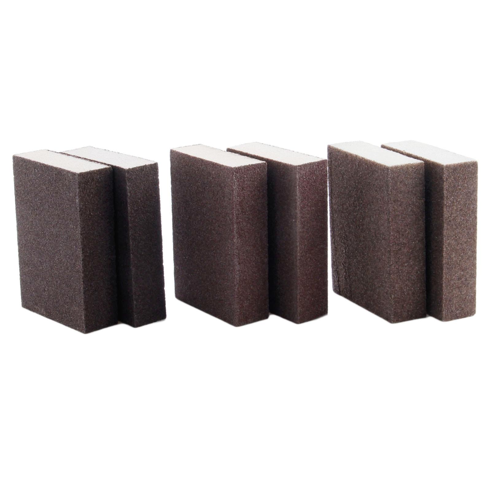 DRELD 2Pcs Abrasive Foam Polishing Sanding Sponge Block Sandpaper Assorted Grit 60 80 120 Grinding Buffing Pad Polishing Tools