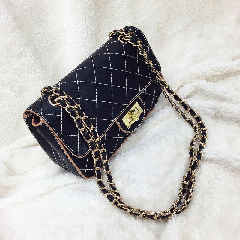 Shoulder bag shoulder bag Lingge chain package New retro women Messenger bag стоимость