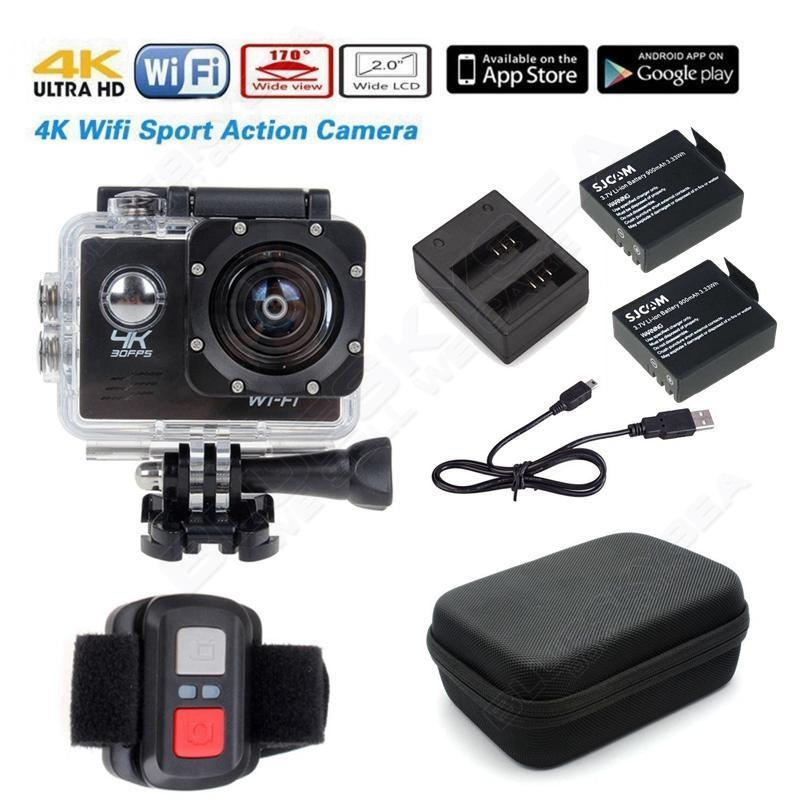 ФОТО Free shipping!Full HD 4K WiFi Sports Action Camera DVR Remote Charger Battery Case