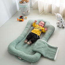 цены Flat Head Baby Pillow Cotton Foldable Sleeper Portable Infant Cartoon Bed Soft Newborn Baby Crib Sleeping Bedding Sleep  0-24M