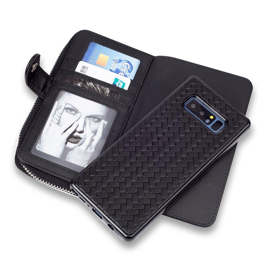 Для Samsung Примечание 8 чехол Роскошный блеск Съемная мягкая силиконовая + кожа Панцири полный защитный задней стороны телефона чехол Капа при...