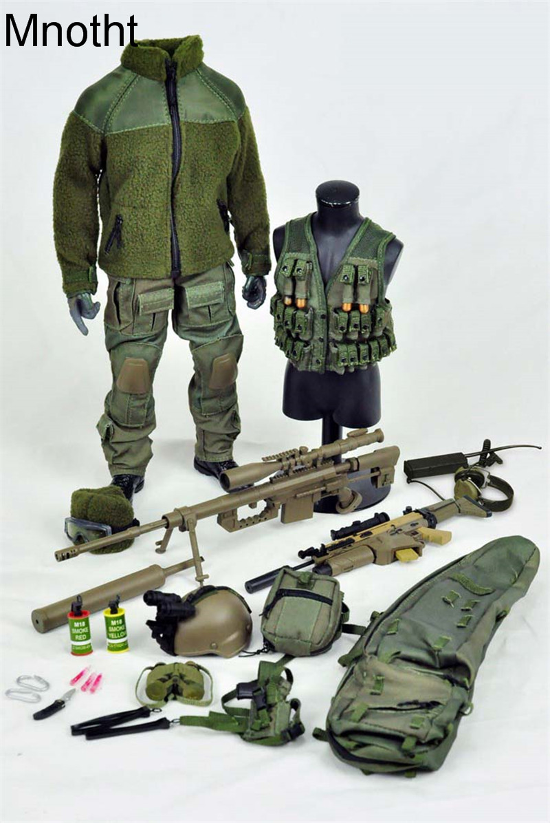 Mnotht 1/6 Solider Mercenary Army VH1020-G Military Model Suit Set Clothes for 12in Action Figure Toys L3 Collection Gift