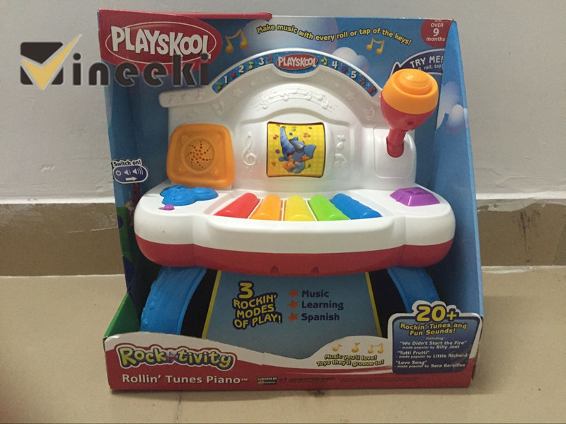 Electronic baby piano Rock tivity Rollin Tunes Paino PLAYSKOOL  English/Spain Music Learning Spanish Fun POP music love songs