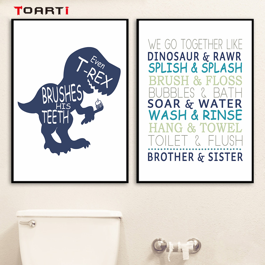 Adorable Brothersister Quotes Nursery Painting Dinosaur -3661