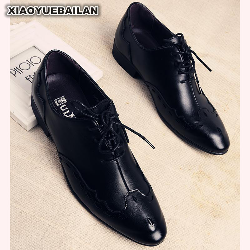 British Hot Men Small Leather Shoes Business Dress Casual Young Hair Teacher