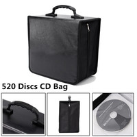 Portable 520 Disc CD DVD Storage World Map Printed Holder Carry Durable Wallet Bag Wallet DJ Album Collect Storage