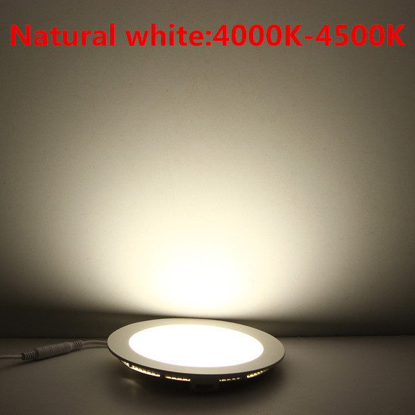 20pcs Ultra Bright 3W 6W 9W 12W 15W 25W Led Ceiling Recessed Downlight Round/Square Panel light 1800Lm Led Panel Bulb Lamp Light