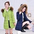 NUEVA Moda de Invierno Femal chaqueta WomenParkas Estilo Mujeres Abrigo de Invierno Caliente Parka Abrigo Delgado Ocasional Más El Tamaño