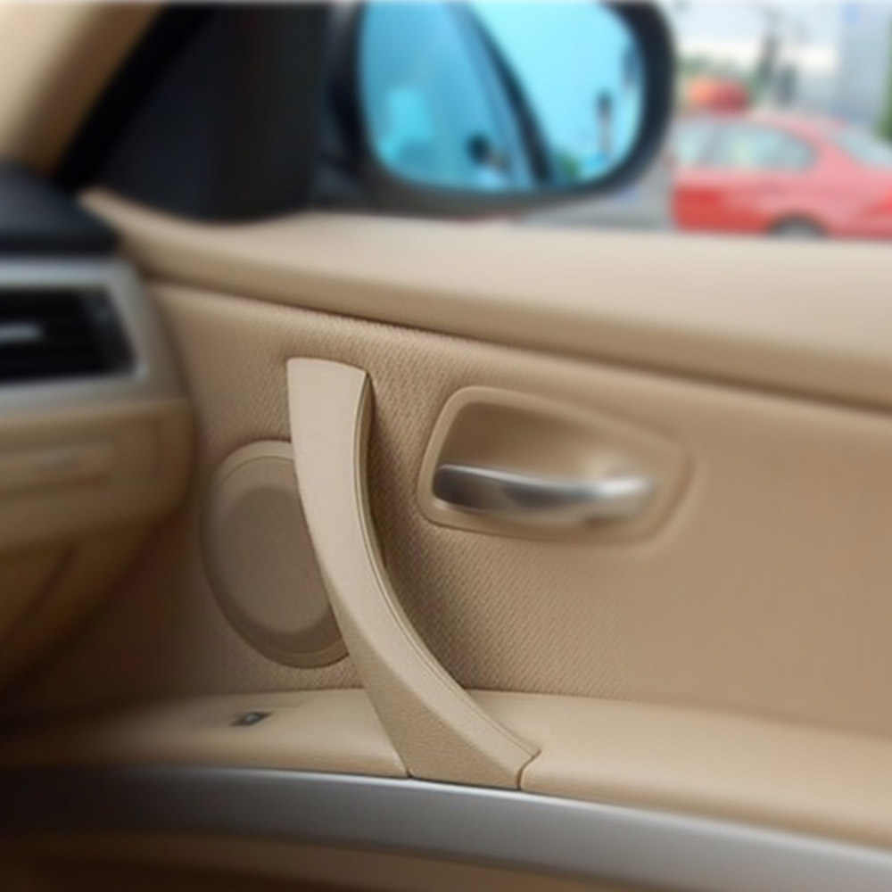 MAHAQI רכב פנימי ידית דלת פנימית פנל למשוך לקצץ כיסוי שמאל ימין עבור BMW 3 סדרת E90 E91 316 318 320 325 328 רכב פנים לעשות