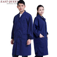 Lab Coat Blue Women Men Lab Supplies Female Male Medical Uniforms Long Sleeve Medical Robes Work