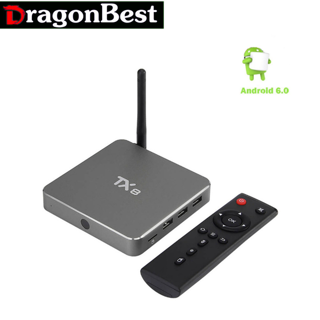 Smart Tv Caja Androide 6.0 Amlogic S912 Octa core Set top box 2G 32G Android OTT Caja de la TV 4 K HDMI H.265 WIFI Media Player Nuevo TX8