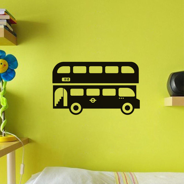 London Bus Wall Sticker For Kids Rooms High Quality Cartoon Bus ...