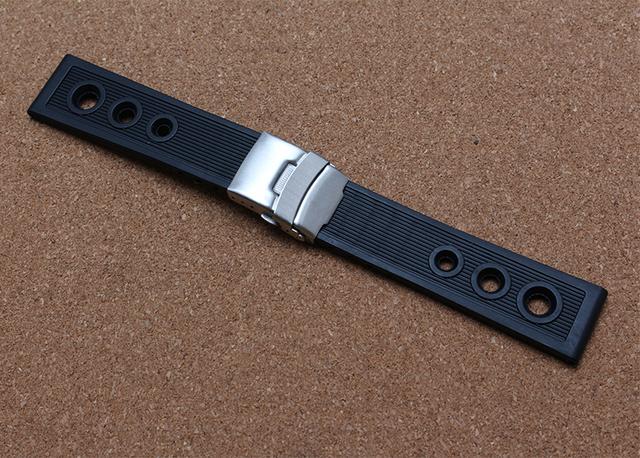Alta Qualidade Pulseira De Borracha Pulseira de Relógio Automático Relógios Pulseira Com Folding implantação Fecho Moda men watch band 22mm