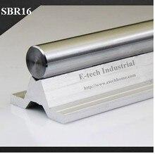 2 шт./лот ЧПУ Линейная Железнодорожных Линейная Направляющая SBR16 Длина 1500 мм Вал + Поддержка