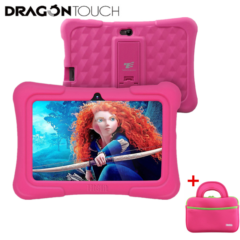 2019 Original Y88X Plus 7 Inch Kids Tablet Quad Core 1GB / 8GB Android 7.1 + Tablet Case Dragon Touch Tablets PC For Children