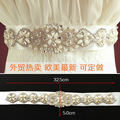 2017 New Fashion Luxury Wedding Belts Beaded Pearls Bridal Sash Handmade Crystal Bridal Sashes For Bridal XW62