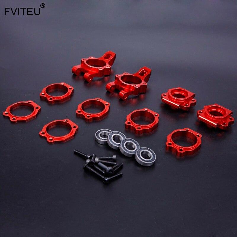 Oyuncaklar ve Hobi Ürünleri'ten Parçalar ve Aksesuarlar'de FVITEU CNC Alaşım Tekerlek Hub Taşıyıcı Seti 1/5 hpi baja 5b ss 2.0 5 t 5sc Rovan King Motor'da  Grup 1