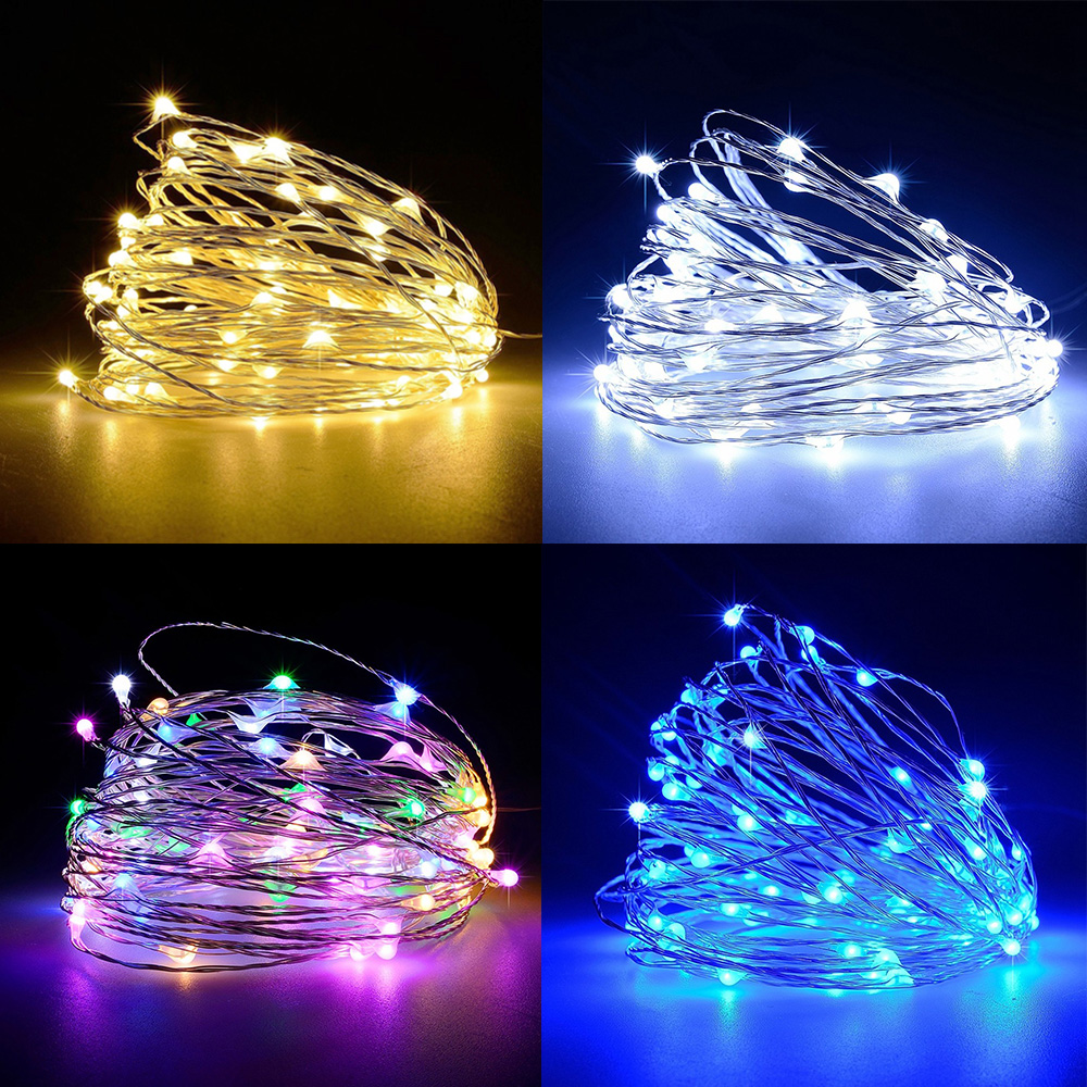 Outdoor Led String Light 20M 200LED  IP67 Waterproof  Fairy Light  Battery Powered Home Festival Decoration Timer Function D35