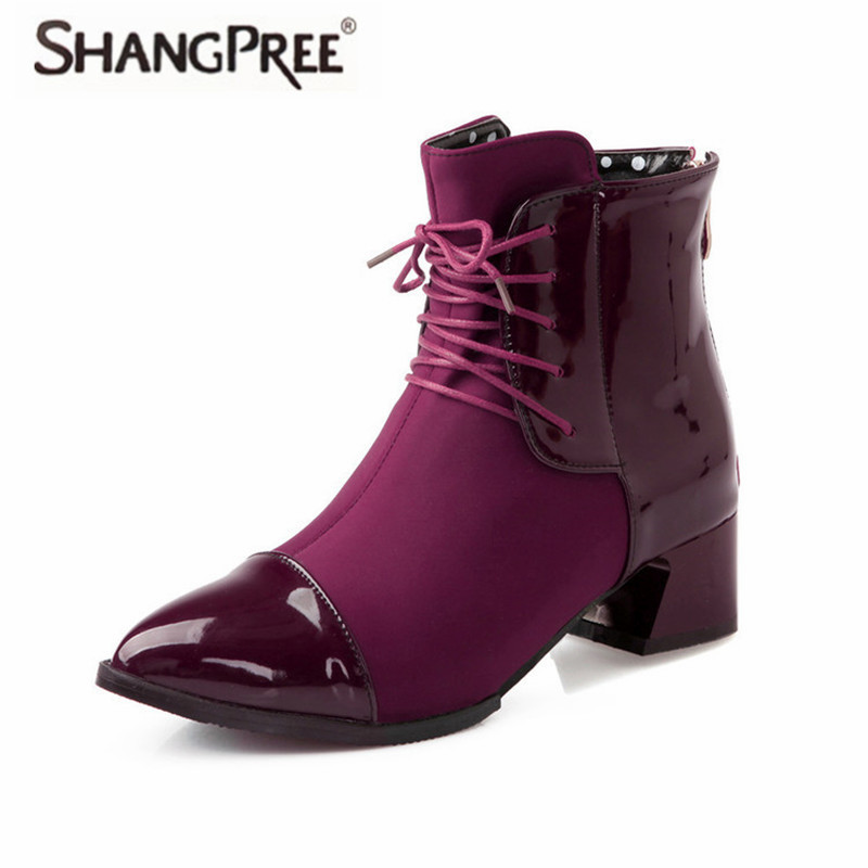 Plus Size 35-43 Women Martin Boots Warm in winter Ankle Boots Womens Motorcycle Boots Autumn Women Shoes PU leather Botas weman women boots plus size 35 43 genuine leather autumn winter ankle boots black wine red shoes woman brand fashion motorcycle boot