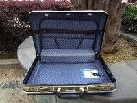 portable aluminum aluminium tool case toolbox Aluminum frame Business advisory suitcase Man portable suitcase briefcase Suitcase card Luggage (2)