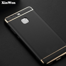 XinWen luxury original Shockproof plastic black phone coque Cover Case For huawei p9 p 9 P