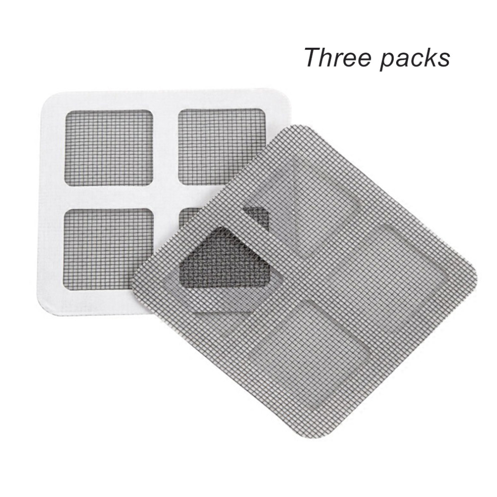 3pcs Anti-mosquito Mesh Sticky Wires Patches Window Mosquito Netting Patch Repairing Broken Holes On Screen Window Door Screens Possessing Chinese Flavors