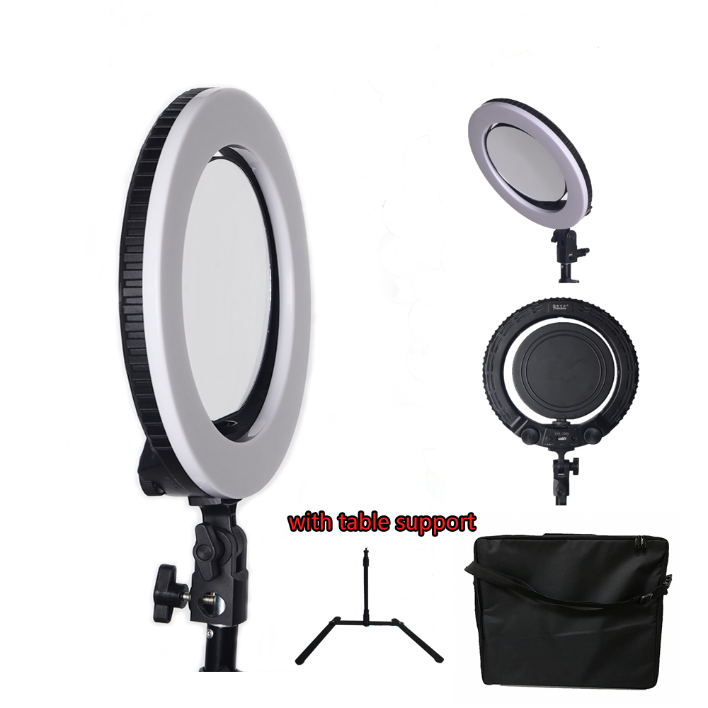 Yidoblo QS-280 mini size 10 Camera Selfie makeup Photo/Studio/Phone/Video LED Ring Light Photography 28W Bio-color Ring LampYidoblo QS-280 mini size 10 Camera Selfie makeup Photo/Studio/Phone/Video LED Ring Light Photography 28W Bio-color Ring Lamp