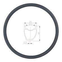 360g 30mm asimetrik yol disk karbon jant tüpsüz gariplik 25mm geniş U şekli 700c tekerlek UD 3K mat parlak 20H 24H 28H 32H 36H