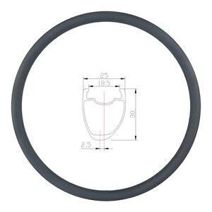 Image 1 - Disque de route asymétrique tubeless en carbone, 360g 30mm, roue tubeless, en forme de U large 700c, UD 3K, mat et brillant, 20H 24H 28H 32H 36H