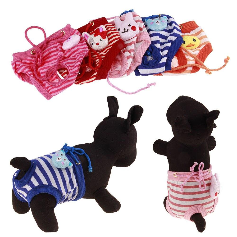 New Small Female Cute Pet Dog Cartoon Panty Sanitary Pants Underwear Hygienic Pant Short Pet Physiological Panties Briefs S-XL