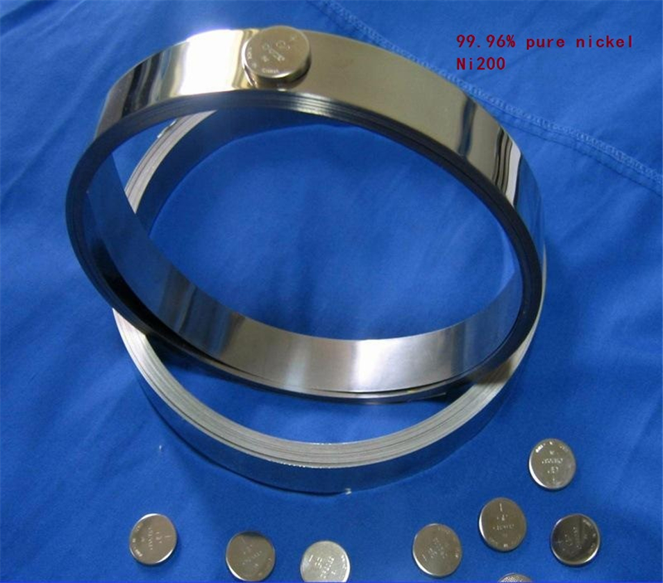 99.96% Pure Nickel Plate Strap Strip Sheets pure nickel for Battery electrode Spot Welding Machine 0.2mm x 10mm x5000mm 5m/roll